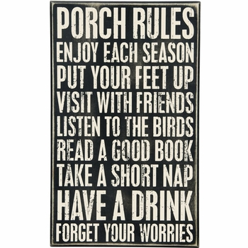 Porch Rules - Box Sign