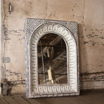 Arched Tin Wall Mirror