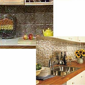 Pressed Tin Backsplash