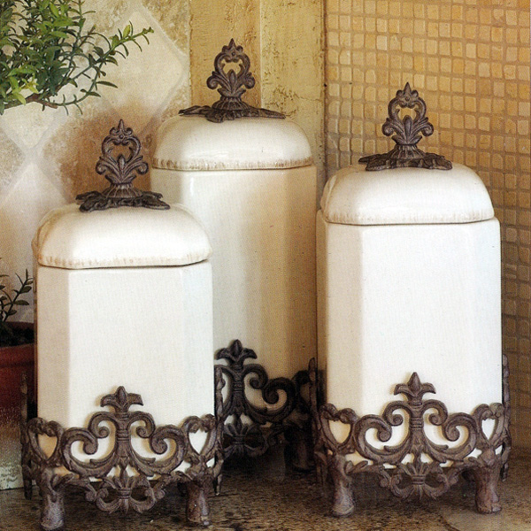 The Gg Collection Provencal Canister Set Iron Accents