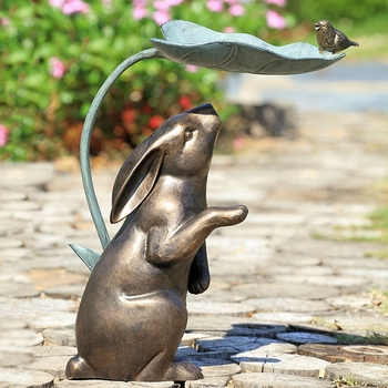 Rabbit, Bird & Leaf Birdfeeder