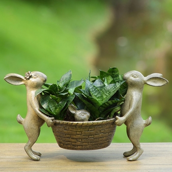 Rabbit Family Plant Holder