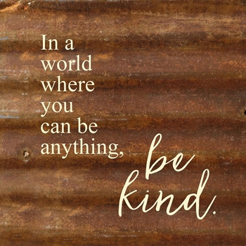 Reclaimed Metal Sign - Be Kind