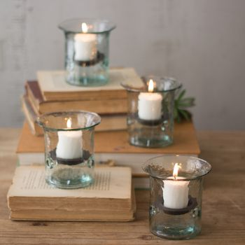 Mini Hurricane Votive (Set-4)