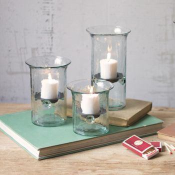 Glass Votive Cylinders (Set-3)