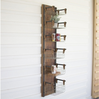 Recycled Wall Storage Rack