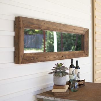 Recycled Wood Framed Mirror