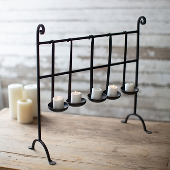 Repurposed Ladle Candle Stand