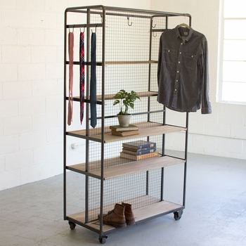 Rolling Closet On Metal Casters