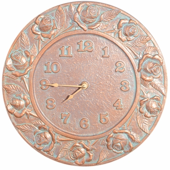 Rose Outdoor Wall Clock