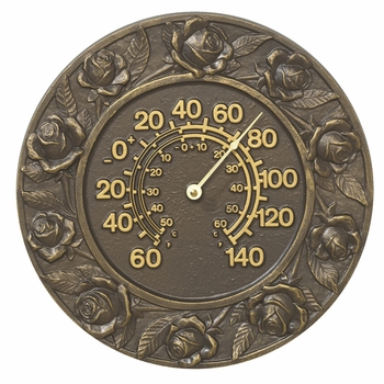 Rose Outdoor Thermometer
