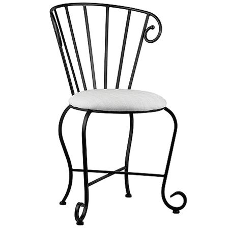 Swell Knf Designs Round Dining Side Chair Set Iron Accents Uwap Interior Chair Design Uwaporg