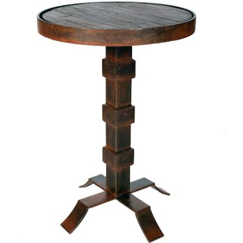 Round Iron Accent Table w/ Top