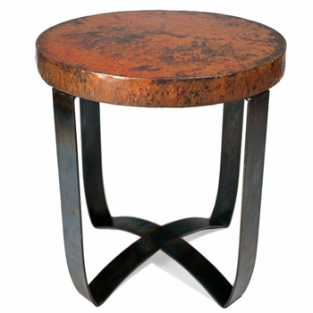 Round Strap End Table Base