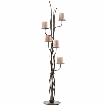 Rush Wrought Iron Candelabra