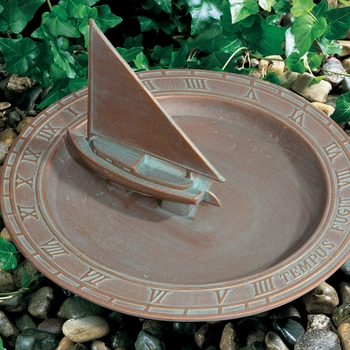 Sailboat Sundial Bird Bath