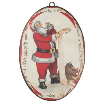 Santas List Disc Ornament