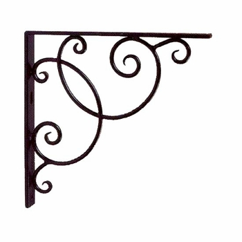 Scroll Iron Shelf Bracket (Set)