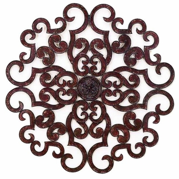 """Scroll 50"""" Wall Grill - Faux Red"""