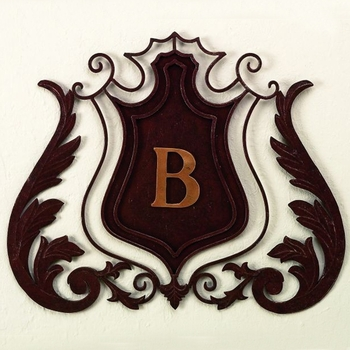Shield Monogram Wall Grill
