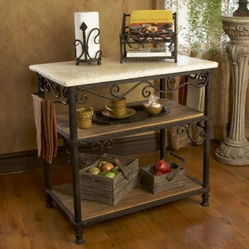 Siena Kitchen Island - Rectangle