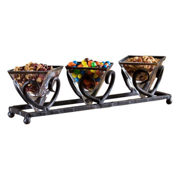 Siena Triple Bowl Server