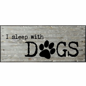 Sleep with Dogs Wall Plaque