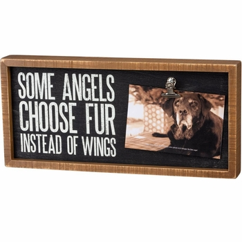 Angels Choose Fur Photo Frame