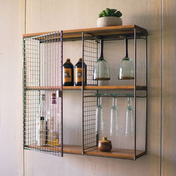 Caged Wall Wine Cabinet