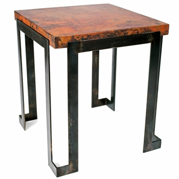 Steel Strap End Table w/24x24 Top