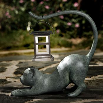 Stretching Cat LED Lantern