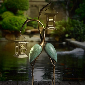 Stylized Crane LED Lanterns