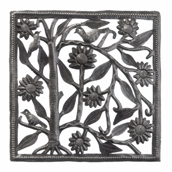 Sunflower Square Cutout Plaque
