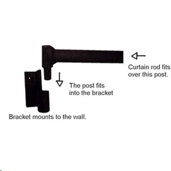 Swing Arm Curtain Bracket - 1""