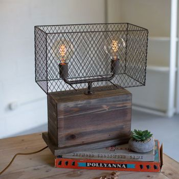 Table Lamp w/ Mesh Shade