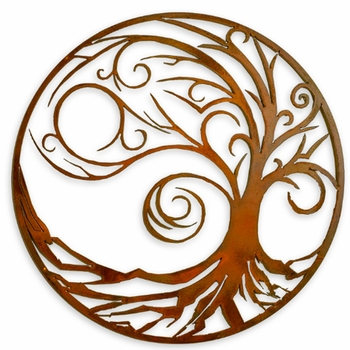 Tree of Life Metal Wall Art - Waves
