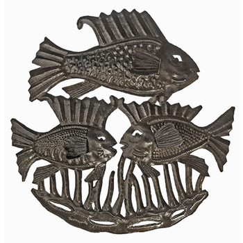 Triple Fish Plaque