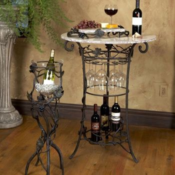 Vineyard  Wine Tasting Table