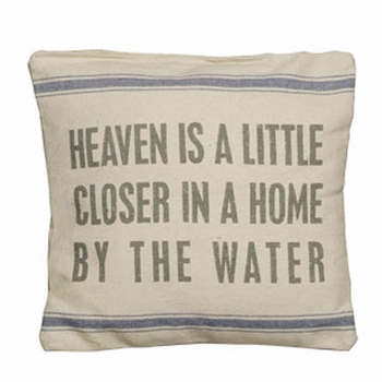 Flour Sack Pillow - By The Water
