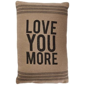 Black Stripe Pillow - Love You More