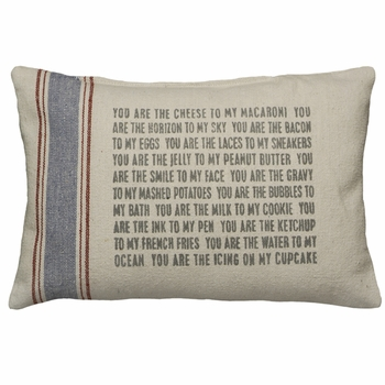 Flour Sack Pillow - You Are