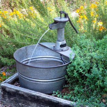 Water Pump Metal Fountain