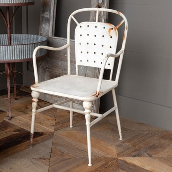 White Cafe Arm Chair (Set-2)