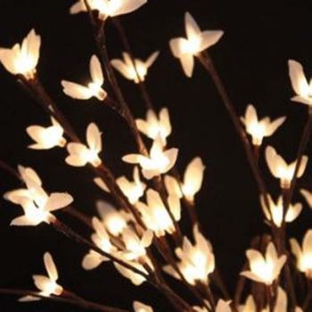 White Forsythia Branches - 60 Led
