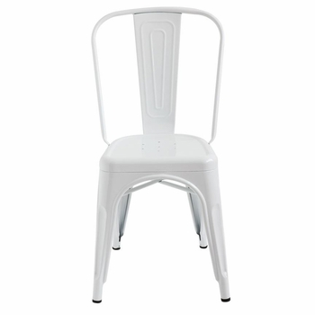 White Metal Chairs (Set-2)