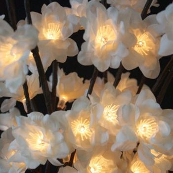 White Plum Lighted Branch - 60 Led