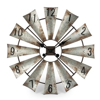 Windmill Wall Clock -CS