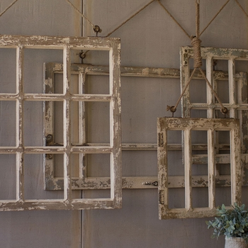 Window Frame Wall Art (Set-4)