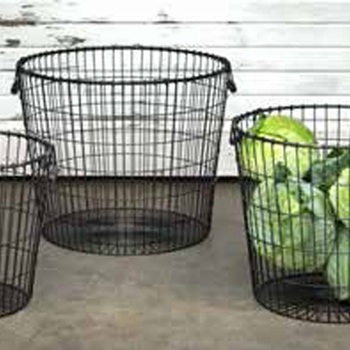 Wire Bushel Baskets (Set-3)