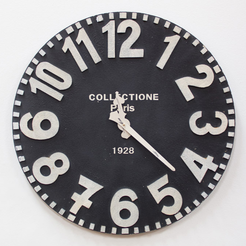 Wooden Black White Wall Clock